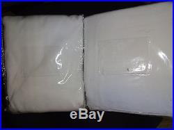 Pottery Barn KIDS WHITE TWILL BLACKOUT PANELS-SET OF 2-44 X 84-NIP