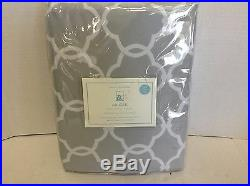 Pottery Barn Kids Abigail Gray Lined Drapes Curtains Panels 50x63 blackout 3 n 1