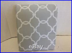 Pottery Barn Kids Abigail Gray Lined Drapes Curtains Panels 50x96 blackout 3 n 1