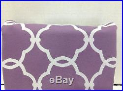 Pottery Barn Kids Abigail Plum Lavender Lined Drapes Curtains Panels 84 blackout