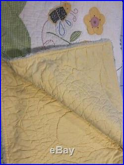 Pottery Barn Kids Bee Quilt Bedding twin Size Includes Sheets Curtains And More