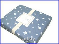 Pottery Barn Kids Blue with Grayish Hue Button Hole Star Cotton Shower Curtain