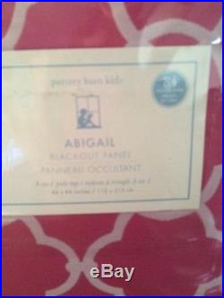 Pottery Barn Kids Bright Pink Abigail Blackout Panels Set Of Two 44 X 84
