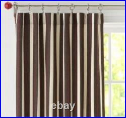Pottery Barn Kids Classic Stripe brown drapes 44 X 96 Curtains Set Of 4 Panels
