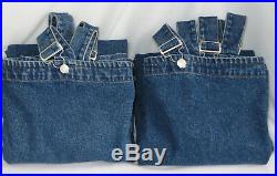 Pottery Barn Kids Denim Overall Curtains 54 x 63 Stonewashed Jean Set/2 SoldOut