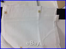 Pottery Barn Kids Emily Meritt Scattered Star Sheers Drapes Panels Curtain 44X96