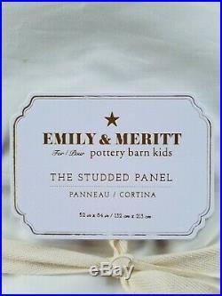 Pottery Barn Kids Emily & Meritt Studded Panel Drape Curtain White 84 #3184