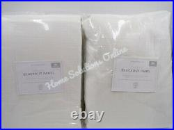 Pottery Barn Kids Evelyn Blackout Drape Panel Curtain White 44x96 S/2 #E38
