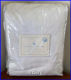 Pottery Barn Kids Evelyn Blackout Panel Drape Curtain 44 x 96 White