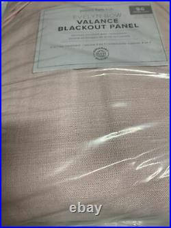 Pottery Barn Kids Evelyn Bow Valance Blackout Curtain Panel 44 x 96 Pink NEW