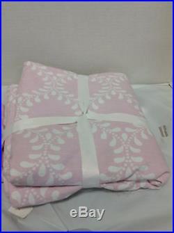Pottery Barn Kids Evelyn Vine BLACKOUT Drapes Panels Curtains 44x96 Light Pink