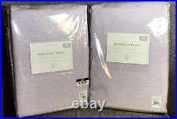 Pottery Barn Kids Girls Lavender Evelyn Blackout Curtains Drapes 44 x 84 Set/2