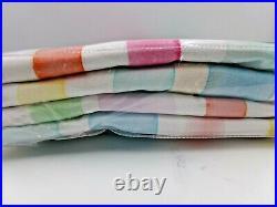 Pottery Barn Kids Kayla Rainbow Stripe Blackout Curtain Drape Multi 44x96 9810A