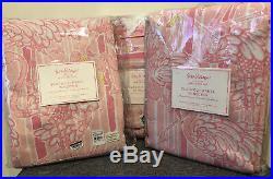 Pottery Barn Kids Lilly Pulitzer Neckin Flamingo Blackout Curtain 63 Set Of 3