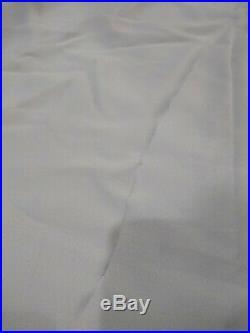 Pottery Barn Kids Navy White Striped Border Blackout Curtains 44x96 Set of 2