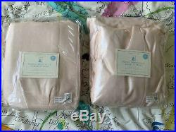 Pottery Barn Kids New NIP 84 Pink Scarlet French Pleat Black Out Curtains