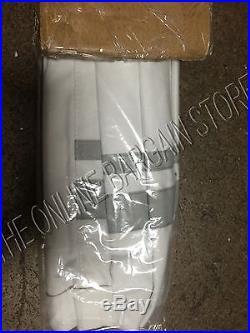 Pottery Barn Kids PBK Harper Roman Blackout Shade Curtain Panel 26x64 Gray White
