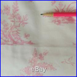 Pottery Barn Kids Pink Isabelle French Toile Curtains Drapes 4 Panels 44 x 84