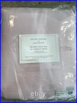 Pottery Barn Kids Rachel Ashwell Shabby Chic Faux Silk Blackout Curtain 96 Pink