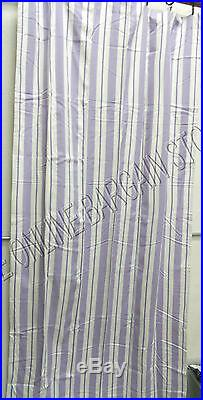 Pottery Barn Kids Spring Stripe Double Width Curtains Drapes Panels 88x96