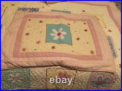 Pottery Barn Kids Twin Quilt Set And Curtains Flowers Pink