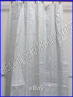 Pottery Barn Kids abc Alphabet Toile Panels Curtains Drapes BLUE 50x63 Set of 2