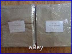 Pottery Barn LINEN SILK BLEND DRAPES-50 X 84-TAUPE-SET OF 2-NIPRETAIL240