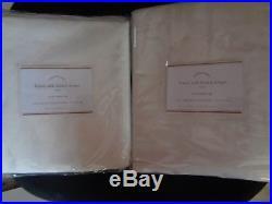 Pottery Barn LINEN SILK BLEND DRAPES-SET OF 2-IVORY-50 X 84-NIPRETAIL $240