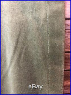 Pottery Barn Lichen Green Velvet Panels Size 46 X 82 Drapes Black Out Heavy