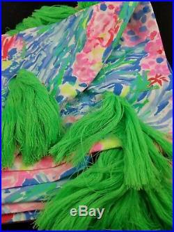 Pottery Barn Lilly Pulitzer Fan Sea Pants Shower Curtain Multi #2894