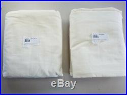 Pottery Barn Lined Velvet Twill Curtains Panels Drapes 50x 108 Ivory #4213