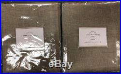 Pottery Barn Linen Sheer Pole Top Drape 50x108 Flax Set/2 New In Package