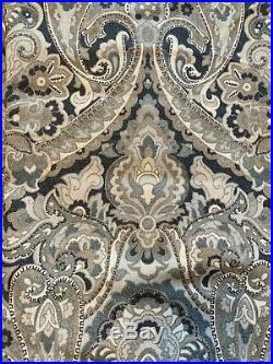 Pottery Barn MacKenna Paisley Drape Curtain Blue 50 x 84 4 Panels
