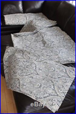 Pottery Barn Mackenna Blue Paisley Drapes (Size 50 x 84)