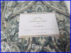 Pottery Barn Mackenna Paisley Drape, 50x96 Set Of 2 Blue