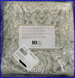 Pottery Barn Mackenna Paisley Linen/Cotton Rod Pocket Curtain, 50w x 96l, Taupe