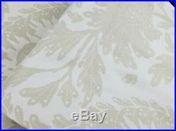 Pottery Barn Maris Floral Print Panels Drapes Curtains Flax S/ 2 96 #3237