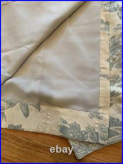 Pottery Barn Matine Toile 50x84 Drapes Curtains Porcelain Blue Pole Top Pole