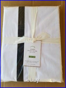 Pottery Barn Morgan Black Stripe Shower Curtain 72 #3571