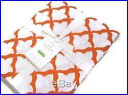 Pottery Barn Multi Colors Orange Organic Cotton Marlo Shower Curtain New