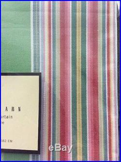 Pottery Barn Newport Striped Shower Curtain 72 X 72 Cotton Bright Bold New