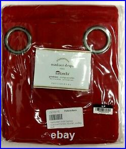 Pottery Barn Outdoor Curtains Drapes Panels Sunbrella Grommets 50x96 Solid Red