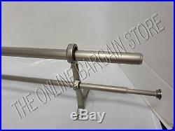 Pottery Barn PB Standard Drape Curtain DOUBLE Rod 108-144 Pewter XXL 1.25 Diam