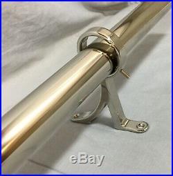 Pottery Barn PB Standard Polished Nickel Medium Drape Curtain Rod+Finials 1.25