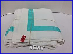Pottery Barn PB Teen Suite Grosgrain Ribbon Drapes Panels Curtains Pool 52x96