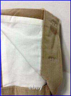 Pottery Barn PB Velvet Drapes panels curtains lined 50x96 pole top Walnut
