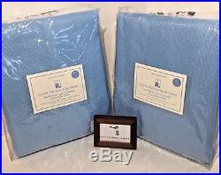 Pottery Barn Pair (set Of 2) Color Pop Blackout Panels Light Blue 44 X 84 Nwt