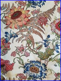 Pottery Barn Palampore Floral Blackout Curtains 2 50 X 108 inch panels