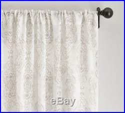 Pottery Barn REETA SHEER PRINT DRAPES-SET OF TWO-50 X 108-FLAX-NEW IN PACKAGING