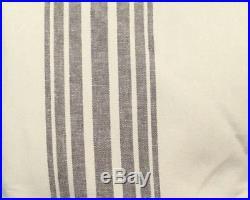 Pottery Barn Riviera BLACKOUT lined 50x84 drape charcoal smoke gray ONE PANEL